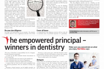 The empowered principal dentist